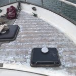 Half the foredeck holes filled