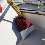 Bag covering the salt water tap/hose