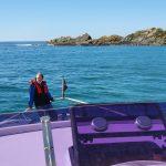 Robert checking the anchor