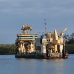 Barge near Goodwood Island