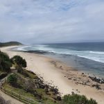 Shelley Beach from Ballina Head Lookout (one of the few we didn't have to climb a hill to get to!)