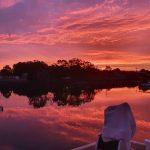 Spectacular Yamba sunset on 7 Dec