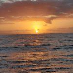 The sun cast an amazing golden hue over the ocean.