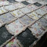 Close up of the look of this raggy quilt.