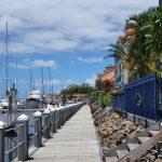 The board walk at Hope Harbour marina