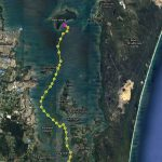 The route from Lagoon Island to Peel Island