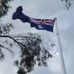 Australian Flag at Tobruk Drive Lookout