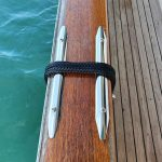 Rub strakes that we'd always had now stop fender ropes from damaging our caprails