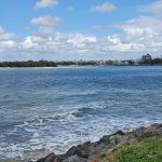 View looking upstream at Caloundra
