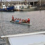 Local Dragon boaters training