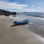 My kayak on the beach
