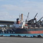 Another cargo ship in port
