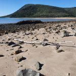 View across the beach to Carlisle Island