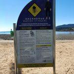 Warning about the hazardous marine stingers