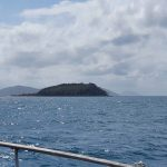 Eclipse Island with Great Palm Island in distance